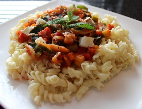 Vegetarische pasta geitenkaas